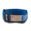 Medical ID Sportband, Blue. Engraving possible at the front & back.