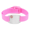 Medical ID bracelet, Pink. Engraving possible at the back & front