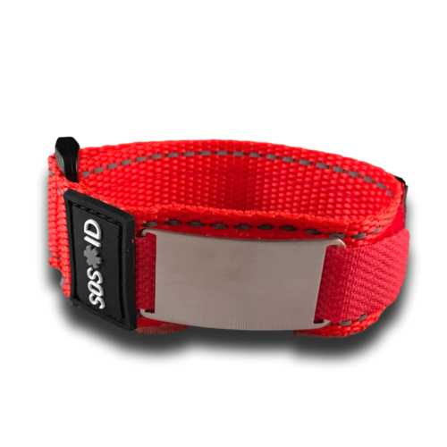 SOS ID sport strap, Red
