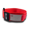 Medical ID sportband, Red. Engraving possible at the front and back.