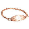 Medical ID bracelet,Rose gold Stainless steel, white symbol. Engraving only possible at the back.